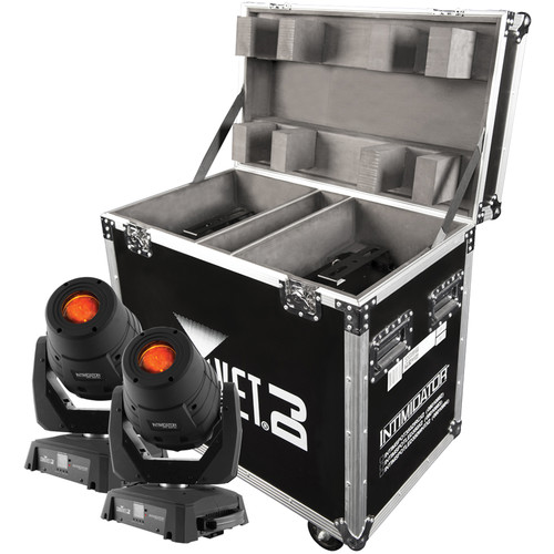 CHAUVET DJ Intimidator Spot 355Z IRC 2-Pack with Flight Case (Black)