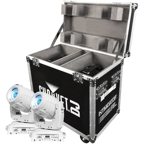 CHAUVET Intimidator Spot 350 IRC 2-Pack with Flight Case (White)