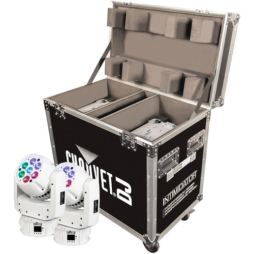 CHAUVET Intimidator Wash Zoom 350 IRC 2-Pack with Flight Case (White)