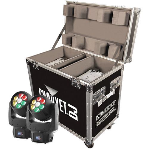 CHAUVET Intimidator Wash Zoom 350 IRC 2-Pack with Flight Case (Black)
