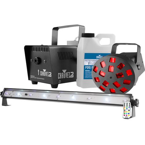 CHAUVET PROFESSIONAL JAM Pack Diamond - Fog Machine, UV Wash-Strobe-Combo Light, & Mushroom