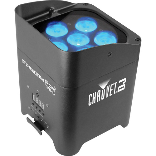 CHAUVET DJ Freedom Par Tri-6 Kit with 9 Lights and Freedom Charge Rolling Case