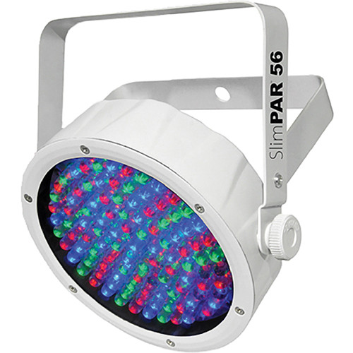 CHAUVET DJ SlimPAR 56 - RGB LED PAR Wash Light (White)