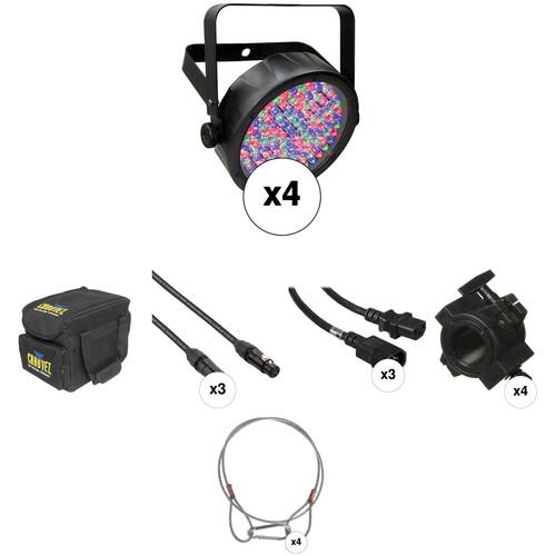 CHAUVET DJ SlimPAR 56 Complete Kit (4 Pack)