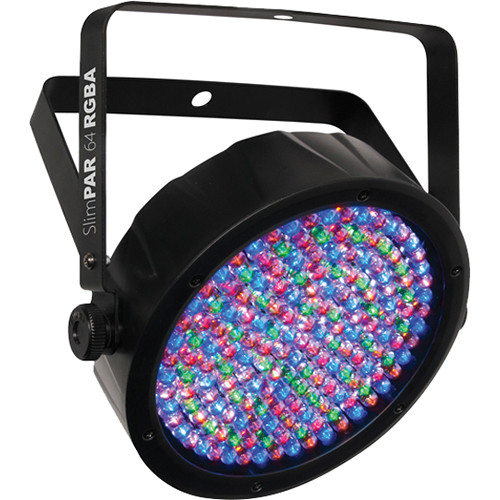 CHAUVET PROFESSIONAL SlimPAR 64 RGBA LED Light with Power and DMX Daisy-Chain Kit
