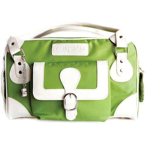 Cheeky Lime Classic Shoulder Bag (Green, Cream Trim)