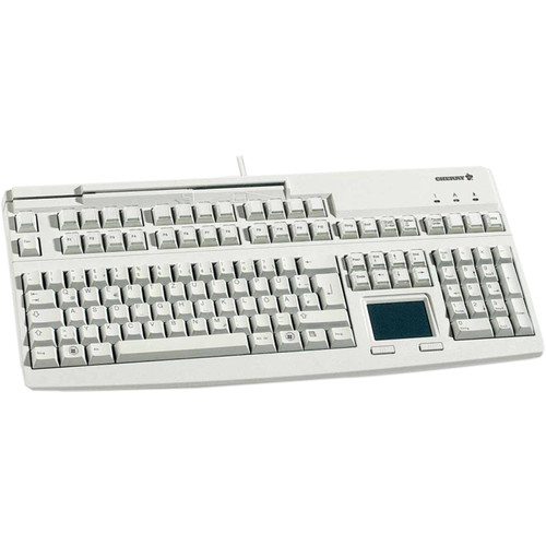 CHERRY G80-8113 MSR USB Keyboard with Touchpad (Light Gray)