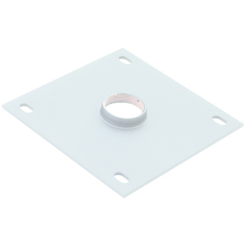 """Chief 8 x 8"""" Ceiling Plate with 1.5"""" NPT Fitting (White)"""