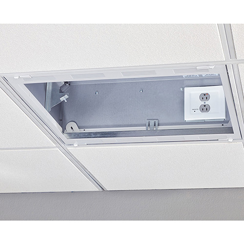 Chief Plenum-Rated Storage Box with 2-Gang Filter & Surge (2x2', White)
