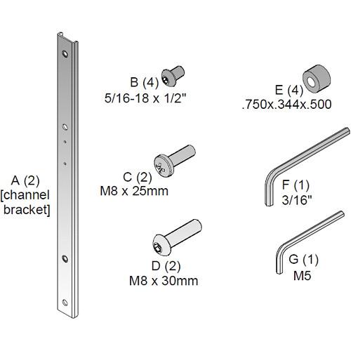 Chief FHB5017 Flat Panel Hardware Kit