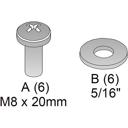 Chief FHB7458 Custom Hardware Kit for FUSION & Thinstall Mounts (Black)