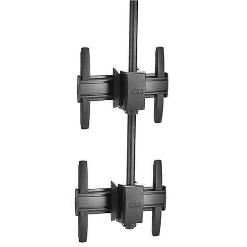 Chief FUSION LCM1X2U Large Ceiling-Mounted 1 x 2 Stacker Kit (Black)