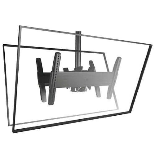 Chief Fusion Series LCB1U Back-to-Back Flat Panel Ceiling Mount (Landscape, Black)