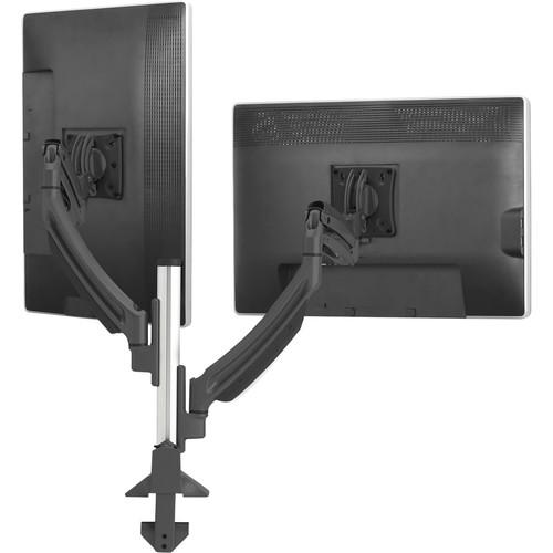 Chief Kontour K1C Dynamic Height-Adjustable Column Dual Monitor Mount (Black)