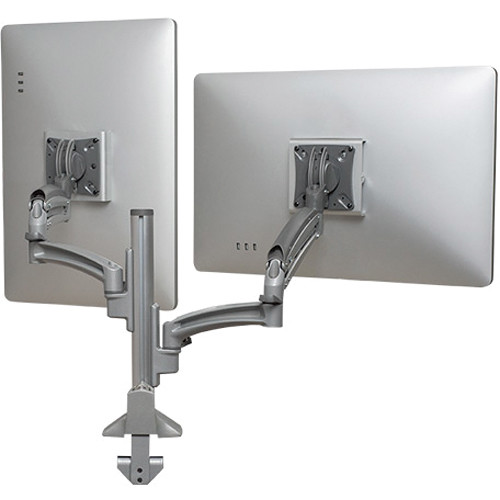 Chief Kontour K1C Dual Monitor Dynamic Column Mount, Reduced Height (Silver)