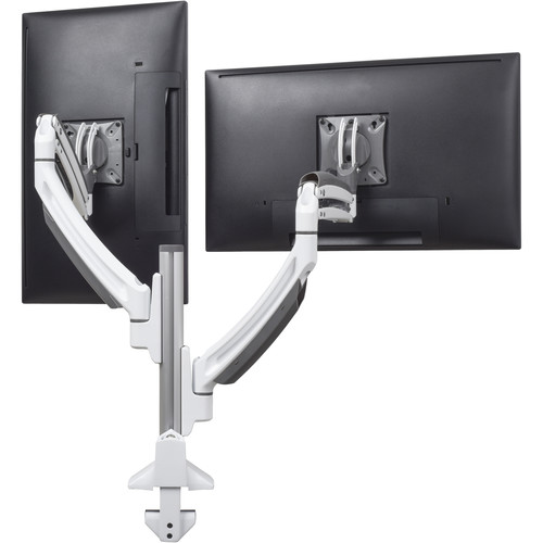 Chief Kontour K1C Dynamic Height-Adjustable Dual-Monitor Column Mount (White)