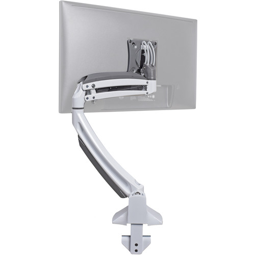 Chief Kontour K1D Dynamic Height-Adjustable SingleMonitor Desk-Clamp Mount (White)