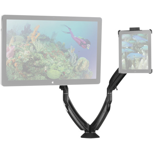 Chief K1D220BXI2B Kontour iPad Mount Kit with Dynamic Desk Clamp Mount & Portable iPad Interface Bracket (Black)