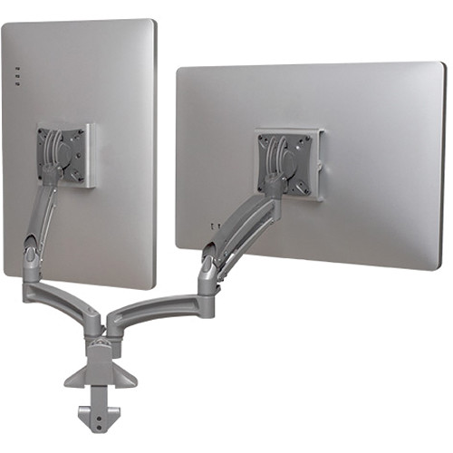 Chief Kontour K1D Dual Monitor Dynamic Desk Mount, Reduced Height (Silver)