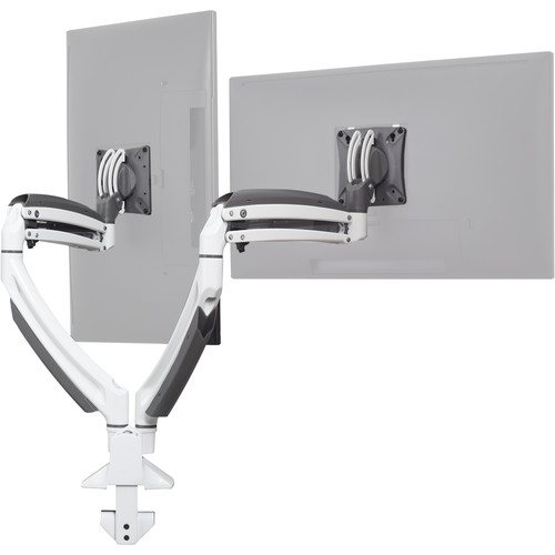 Chief Kontour K1D Dynamic Height-Adjustable Dual-Monitor Desk-Clamp Mount (White)