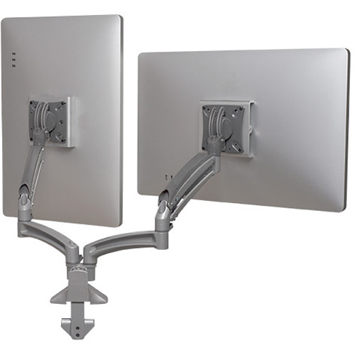 Chief Kontour K1D Dual Monitor Dynamic Desk Mount, Reduced Height (White)