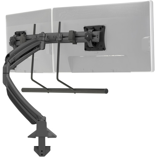 Chief Kontour K1D Dynamic Desk Clamp Mount with Dual Monitor Array (Black)