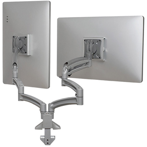 Chief Kontour K1D Dual Monitor Dynamic Desk Mount with Extended Reach (Silver)