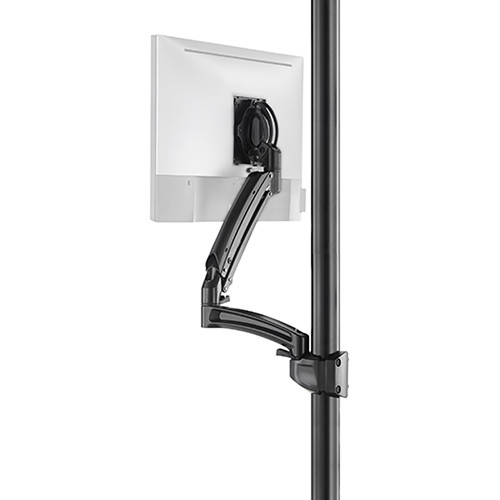 Chief K1P120BXRH Kontour Articulating Single Monitor Reduced-Height Pole Mount (Black)