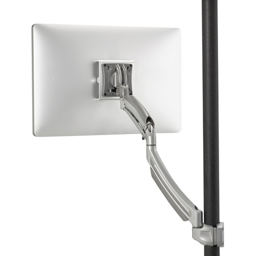 Chief K1P120S Kontour Articulating Single Monitor Pole Mount (Silver)