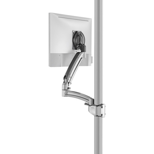 Chief K1P120SXRH Kontour Articulating Single Monitor Reduced-Height Pole Mount (Silver)