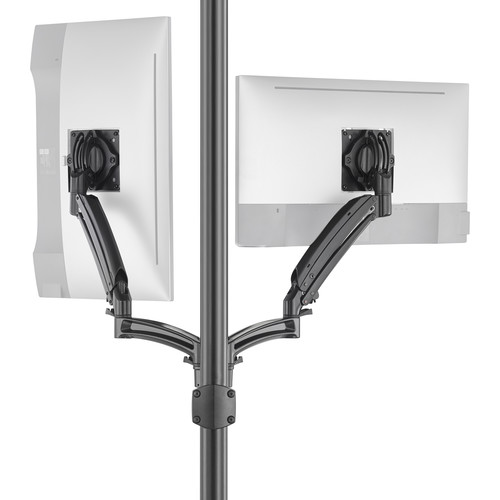 Chief K1P220BXRH Kontour Articulating Dual Monitor Reduced-Height Pole Mount (Black)