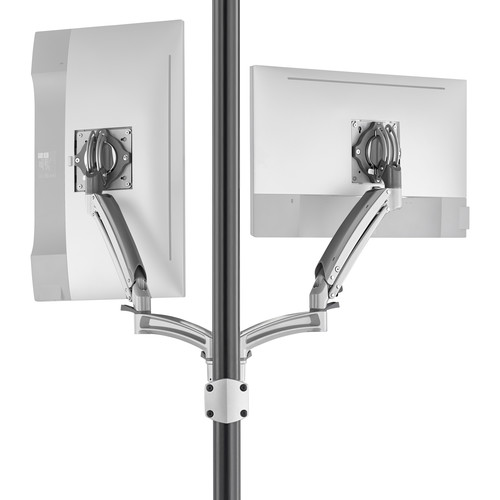 Chief K1P220SXRH Kontour Articulating Dual Monitor Reduced-Height Pole Mount (Silver)