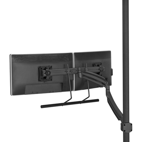 Chief Kontour K1P Dynamic Pole Mount with Dual Monitor Array (Black)