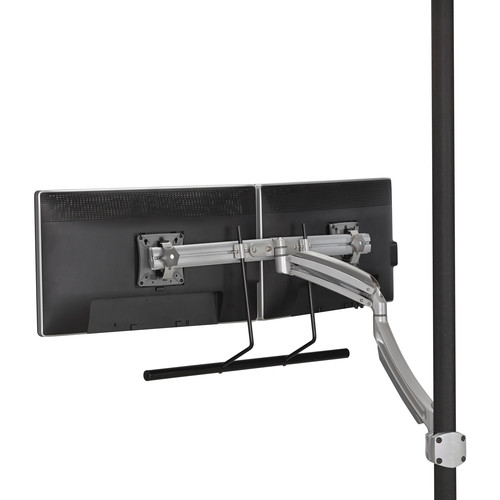 Chief Kontour K1P Dynamic Pole Mount with Dual Monitor Array (Silver)
