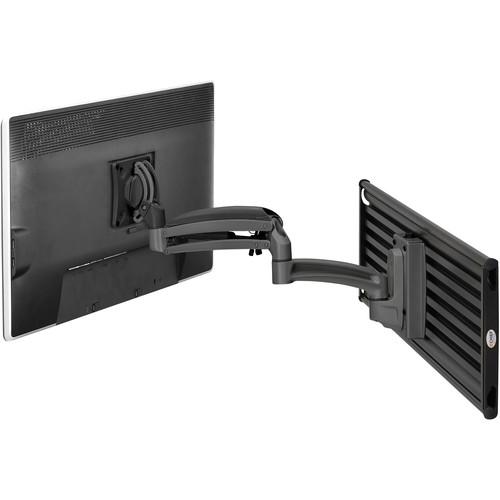 Chief Kontour K1S Dynamic Height-Adjustable Slat-Wall Single-Monitor Mount (Black)