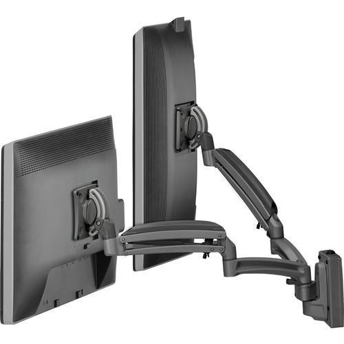 Chief Kontour K1S Dynamic Height-Adjustable Slat-Wall Dual-Monitor Mount (Black)
