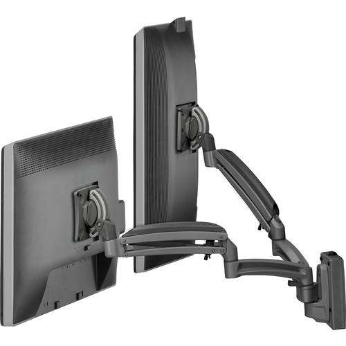 Chief Kontour K1S Dynamic Height-Adjustable Slat-Wall Dual-Monitor Mount (Black)