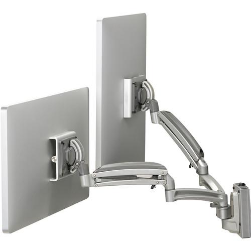 Chief Kontour K1S Dynamic Height-Adjustable Slat-Wall Dual-Monitor Mount (Silver)
