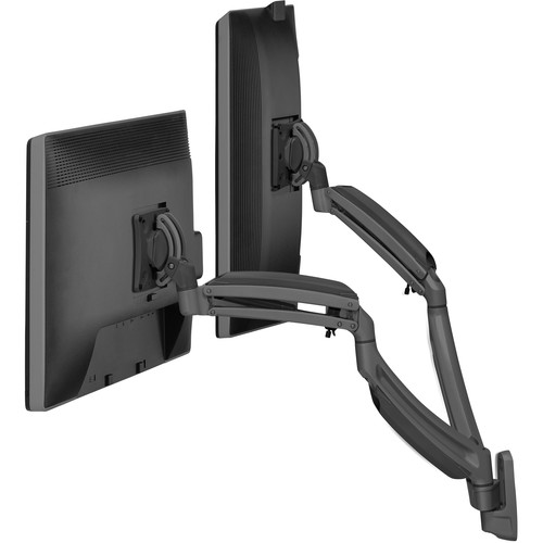 Chief K1W220B Kontour Dynamic Height-Adjustable Dual-Monitor Wall Mount (Black)