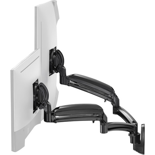 Chief K1W220BXRH Kontour Dynamic Reduced-Height Dual-Monitor Wall Mount (Black)