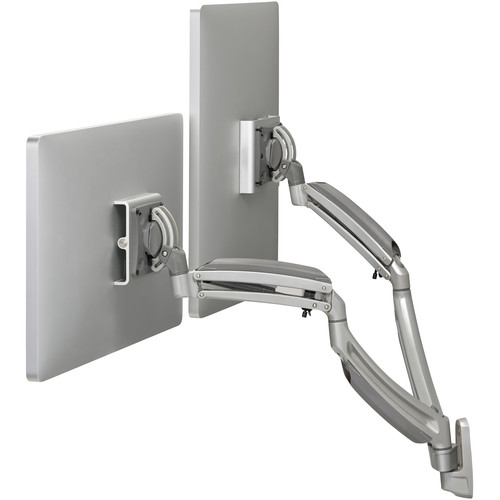Chief K1W220S Kontour Dynamic Height-Adjustable Dual-Monitor Wall Mount (Black)