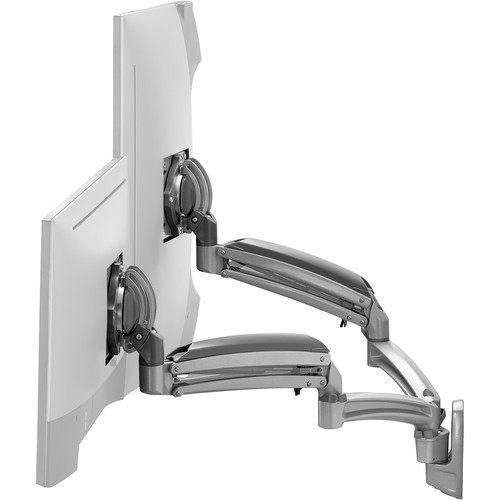 Chief K1W220SXRH Kontour Dynamic Reduced-Height Dual-Monitor Wall Mount (Silver)