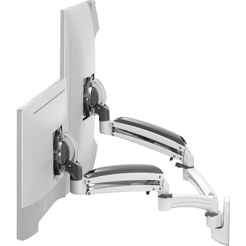 Chief K1W220WXRH Kontour Dynamic Reduced-Height Dual-Monitor Wall Mount (White)
