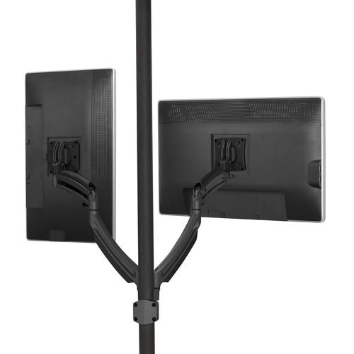 Chief K2P220B Kontour K2P Dual Monitor Manual Height-Adjustable Pole Mount Articulating Arms (Black)