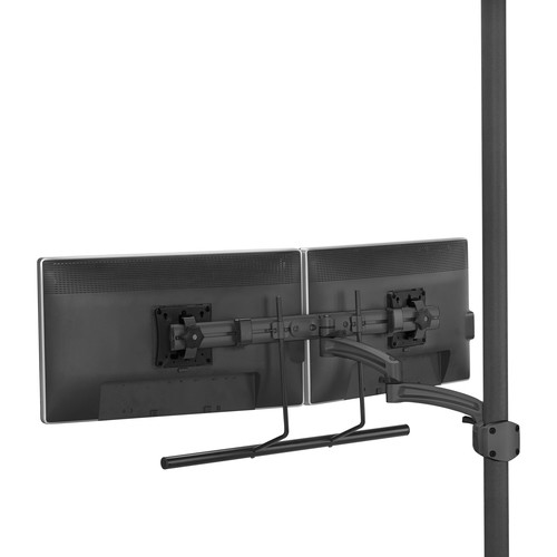Chief K2P22HB Kontour K2P Manual Height-Adjustable Dynamic Pole Mount Articulating Arm with Dual-Monitor Array Bar (Black)