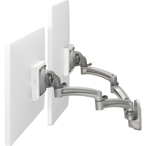 "Chief Kontour K2W220 Articulating Wall Mount for Dual 10 to 30"" Monitors (Silver)"