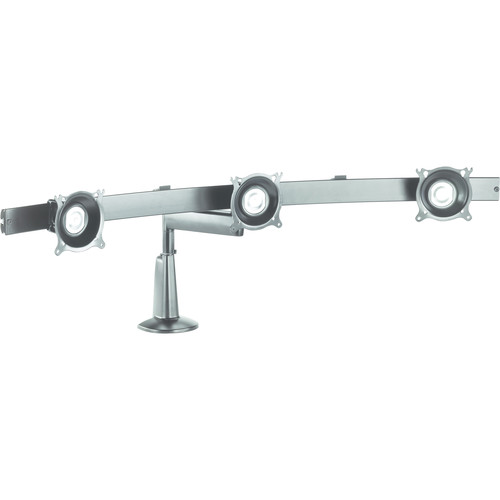 Chief KCS320S Single Arm Triple Monitor Desk Mount (Silver)