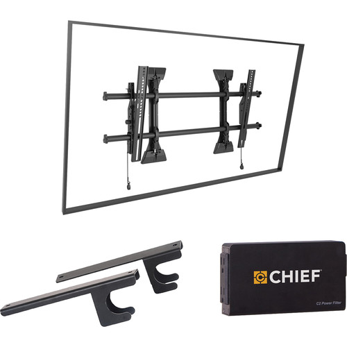 Chief Fusion Tilt Wall TV Mount with CAT5/Surge/CPU Adapter & Power Filter Kit