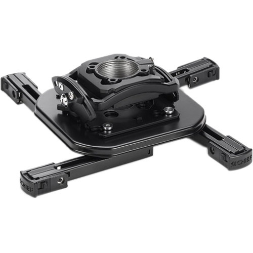 """Chief Projector Ceiling Mount Kit with Universal Mount, 18-24"""" Adjustable Extension and Angled Ceiling Plate (Black)"""