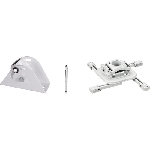 """Chief Projector Ceiling Mount Kit with Universal Mount, 18-24"""" Adjustable Extension and Angled Ceiling Plate (White)"""